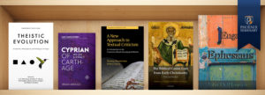 Phoenix Seminary faculty publications on a shelf