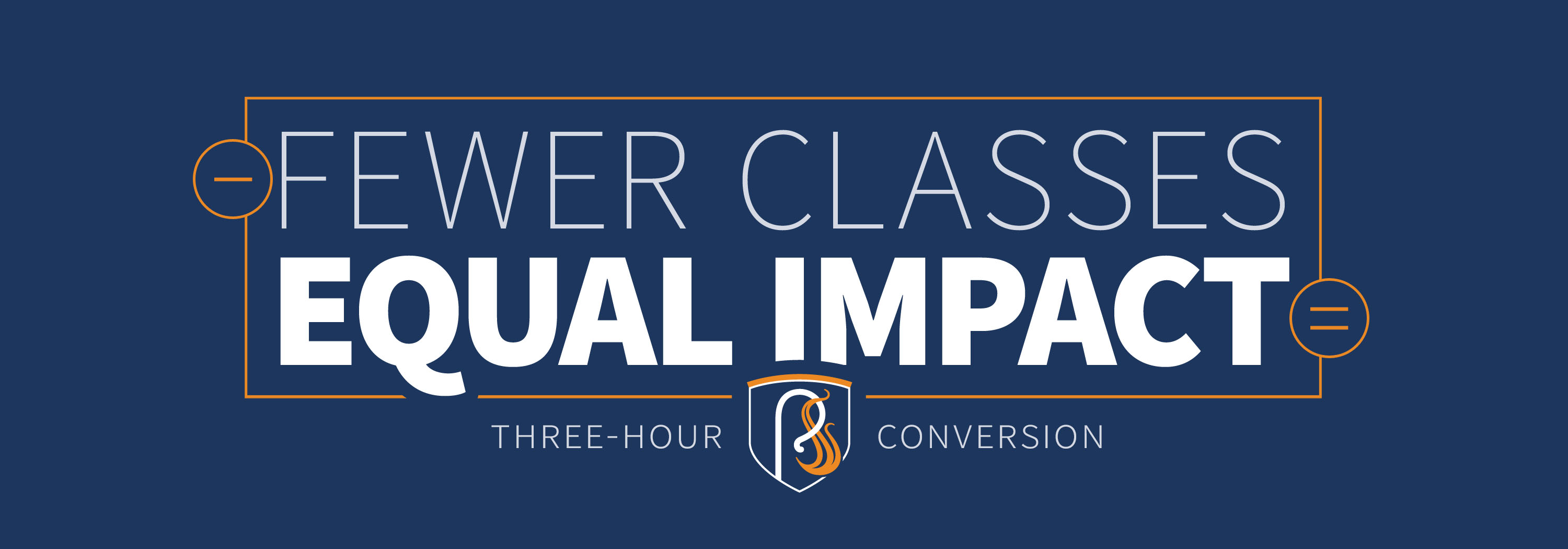 Fewer Classes, Equal Impact graphic